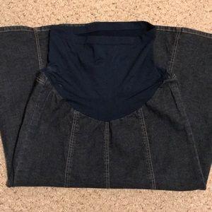 Modest Denim Maternity Skirt